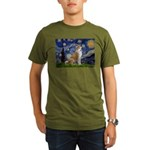 Starry - Akita3 Organic Men's T-Shirt (dark)