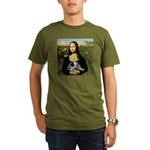 MonaLisa-AussieCattle Pup Organic Men's T-Shirt (d