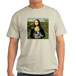 MonaLisa-AussieCattle Pup Light T-Shirt