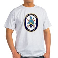 USS Howard DDG 83 Ash Grey T-Shirt