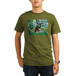 Bridge-Aussie Shep - Tri (L) Organic Men's T-Shirt