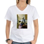 Pitcher-Aussie Shep1 Women's V-Neck T-Shirt