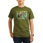 Irises - Aussie Terrier Organic Men's T-Shirt (dar