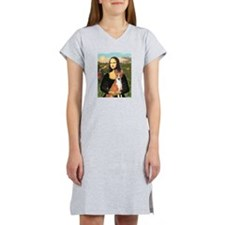 Mona Lisa - Basenji Women's Nightshirt