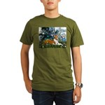 Lilies (1) with a Basenj Organic Men's T-Shirt (da