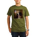 Lincoln / Basset Hound Organic Men's T-Shirt (dark