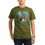 Lily Bridge Basset Organic Men's T-Shirt (dark)