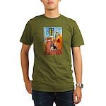 Room with a Basset Organic Men's T-Shirt (dark)