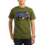 Starry / Basset Hound Organic Men's T-Shirt (dark)