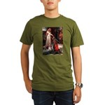 The Accolade & Basset Organic Men's T-Shirt (dark)