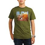 Van Gogh's Room & Basset Organic Men's T-Shirt (da