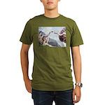 Creation of the Beagle Organic Men's T-Shirt (dark