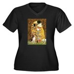 The Kiss & Beagle Women's Plus Size V-Neck Dark T-