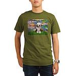 Lilies / Beardie #1 Organic Men's T-Shirt (dark)