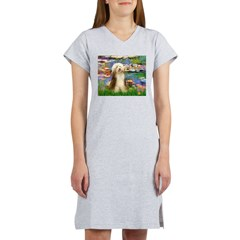 Lilies / Bearded Collie Women's Nightshirt