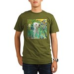 Irises /Bedlington T Organic Men's T-Shirt (dark)