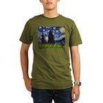 Starry Night /Belgian Sheepdog Organic Men's T-Shi