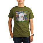 Llies & Bichon Organic Men's T-Shirt (dark)