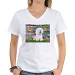 Llies & Bichon Women's V-Neck T-Shirt