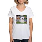 Llies & Bichon Women's V-Neck T-Shirt
