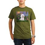 Lilies 4 / Bichon 1 Organic Men's T-Shirt (dark)