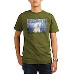 Lilies (6) & Bichon Organic Men's T-Shirt (dark)