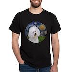 Starry Night Bichon Dark T-Shirt