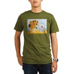 Sunflowers & Bolognese Organic Men's T-Shirt (dark