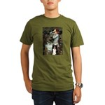 Ophelia & Border Collie Organic Men's T-Shirt (dar
