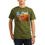 Room with Border Collie Organic Men's T-Shirt (dar