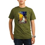 Terrace Cafe & Borzoi Organic Men's T-Shirt (dark)