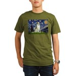 Starry Night & Borzoi Organic Men's T-Shirt (dark)