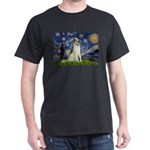 Starry Night & Borzoi Dark T-Shirt