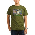 Borzoi in Monet's Lilies Organic Men's T-Shirt (da