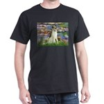 Borzoi in Monet's Lilies Dark T-Shirt