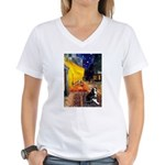 Cafe & Boston Terrie Women's V-Neck T-Shirt