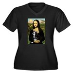 Mona & her Boston Ter Women's Plus Size V-Neck Dar