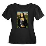 Mona & her Boston Ter Women's Plus Size Scoop Neck