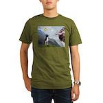 Creation of a Boston Ter Organic Men's T-Shirt (da