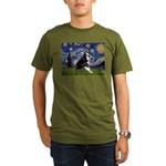 Starry Night Boston Ter Organic Men's T-Shirt (dar