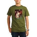 Seated Angel & Boxer Organic Men's T-Shirt (dark)