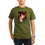 Angel/Brittany Spaniel Organic Men's T-Shirt (dark