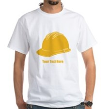 Workers Hat. Your Text. Shirt