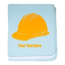 Workers Hat. Your Text. baby blanket