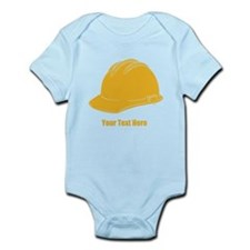 Workers Hat. Your Text. Infant Bodysuit