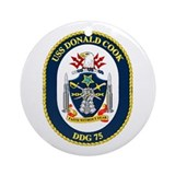 USS Donald Cook DDG 75 Ornament (Round)
