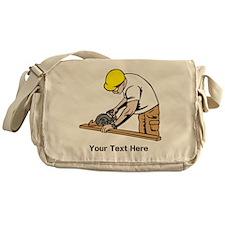 Carpenter, Black Text. Messenger Bag