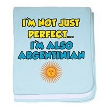 Not Just Perfect Argentinian baby blanket
