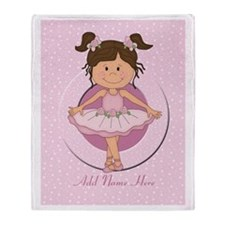 Personalized Ballerina Ballet Throw Blanket