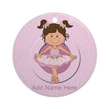 Personalized Ballerina Ballet Ornament (Round)